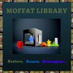 Moffat Library 3D Printer Logo
