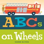 The alphabet hits the road in this vividly illustrated picture book featuring all things that go! Buckle up for an alphabetical road trip in Ramon Olivera's ABCs of Wheels ! In this book, kids will learn their ABCs in the fast lane. From A is for axle to Z is for zoom, young children will be introduced to taxis, hot rods, moon rovers, stagecoaches, racecars, ice cream trucks, and more in a celebration of where the wheels meet the road.